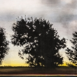 "Three Trees, 16""x48"""